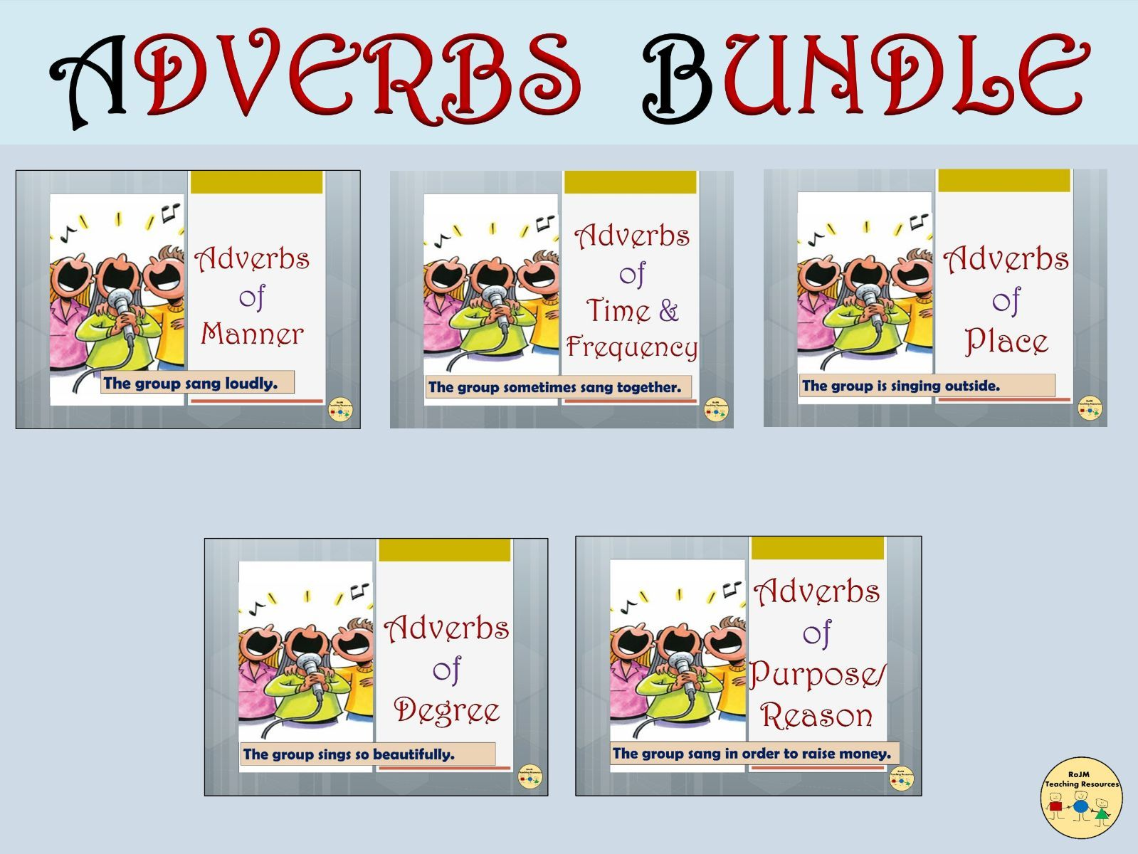 Adverbs Bundle Adverbs Of Manner Time Frequency Place