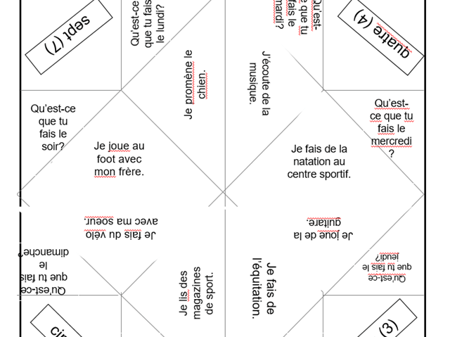 Chatterbox template for leisure activities in French