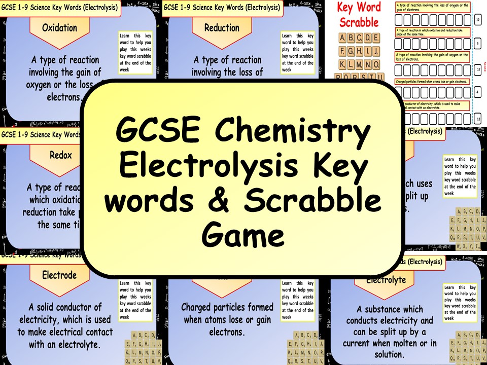 free gcse chemistry science