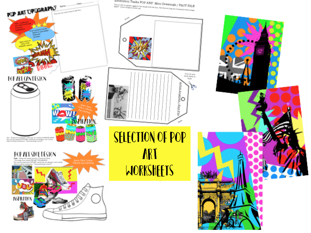 Pop Art Worksheets By Rvevans88