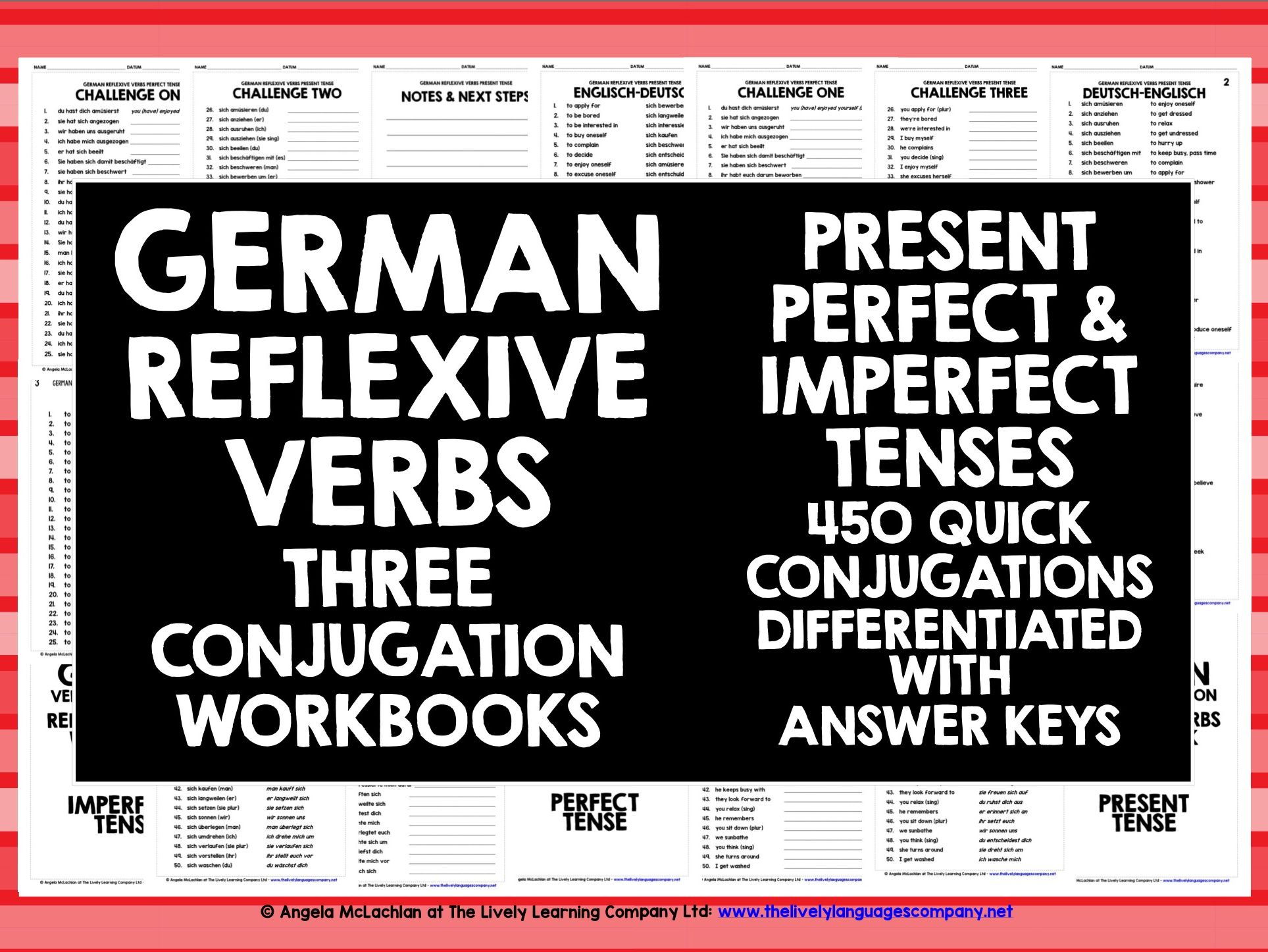 German Reflexive Verbs Conjugation Practice By Livelylearning