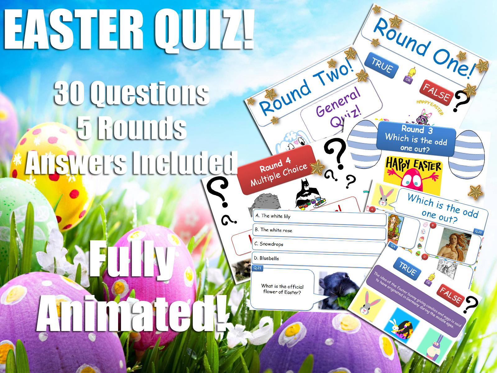 Religious Stu S Easter Quiz Bundle Re Rs Ks3