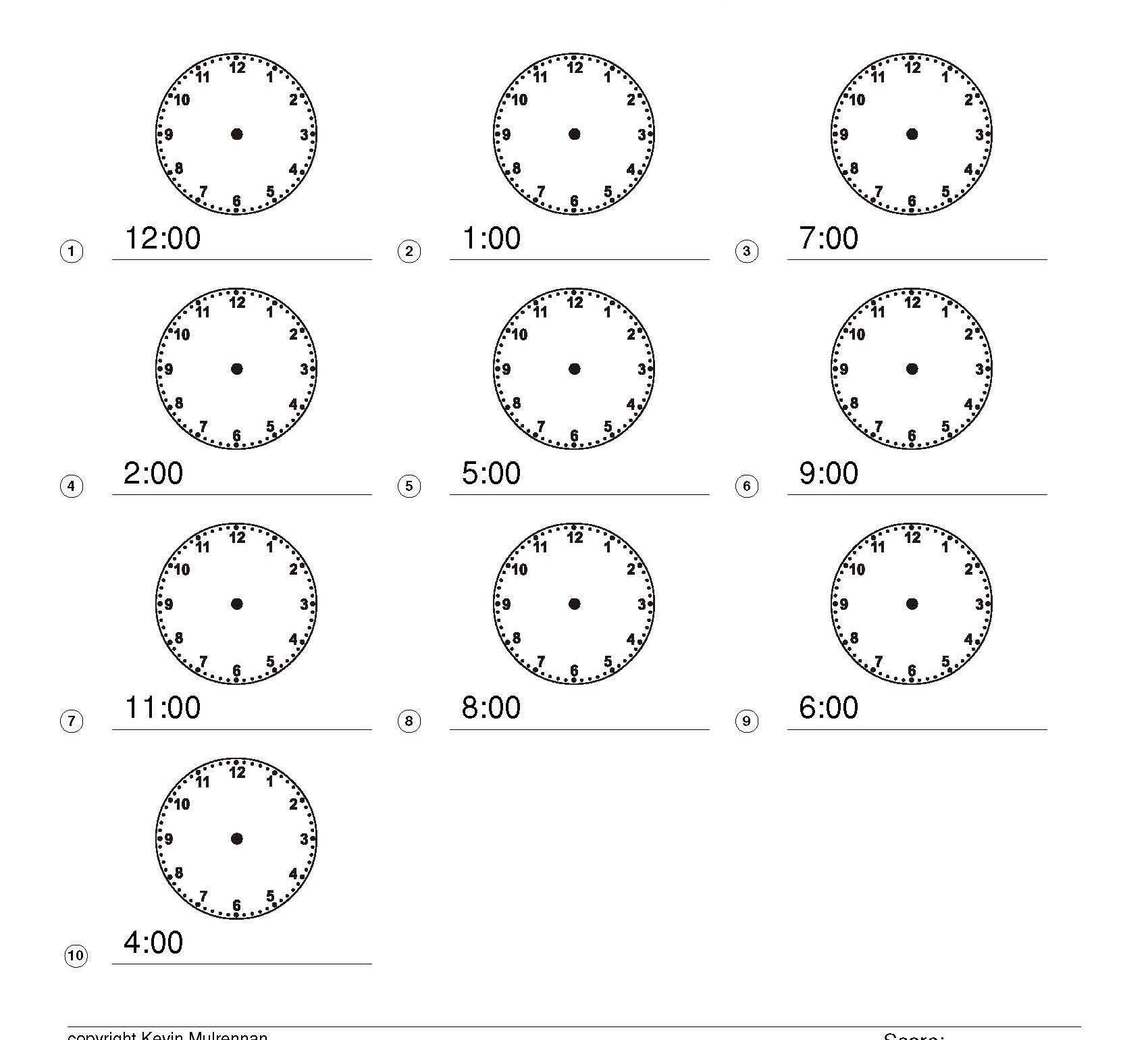 Telling the Time Games and Worksheets: KS1, KS2 Maths