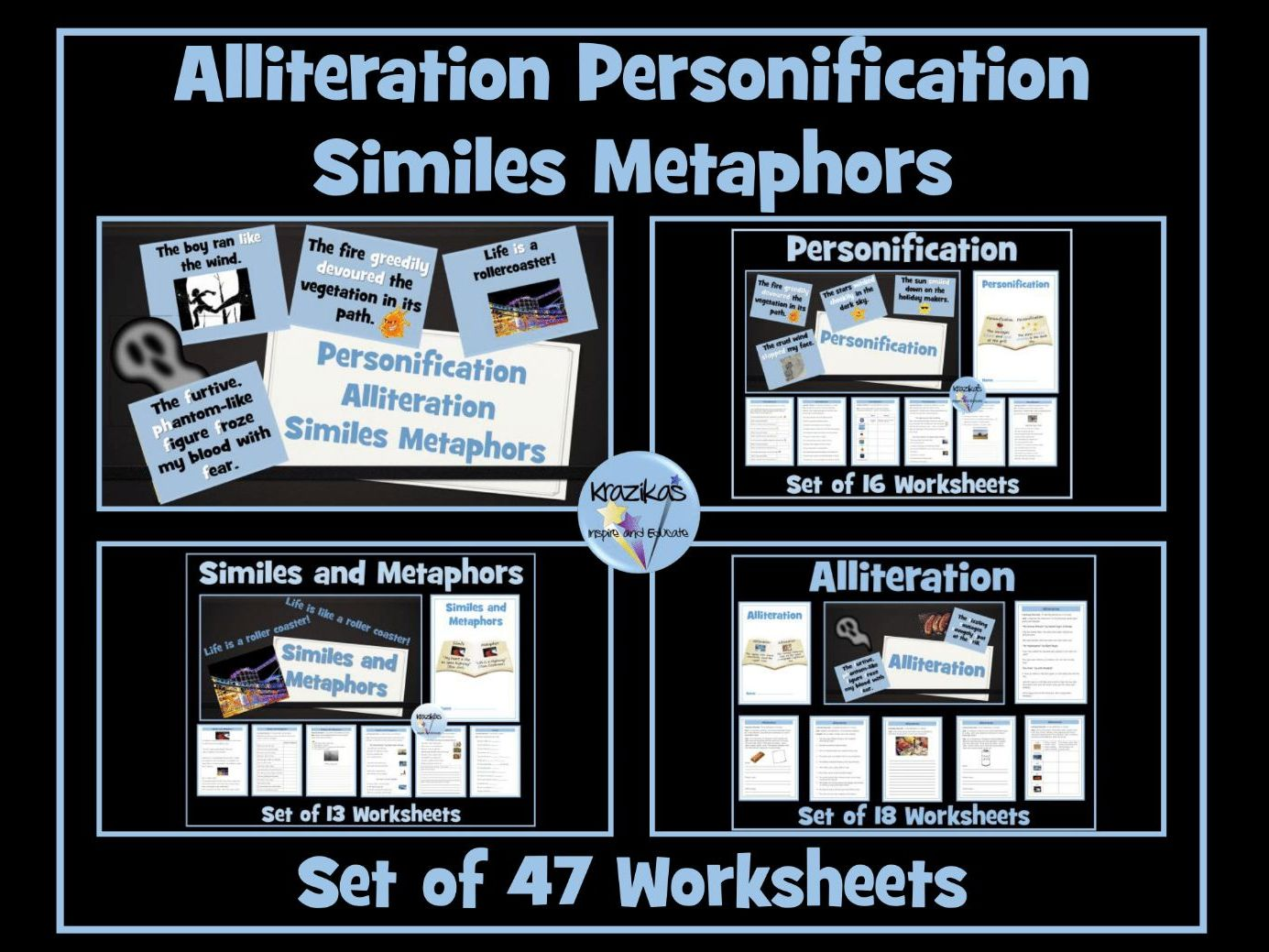 Similes Metaphors Personification Alliteration 47
