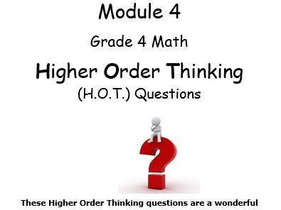 Grade 4 Math Module 4 Higher Order Thinking (HOT