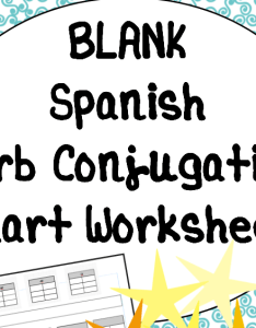 Cover image also blank  chart verb conjugation worksheet for spanish class by rh tes