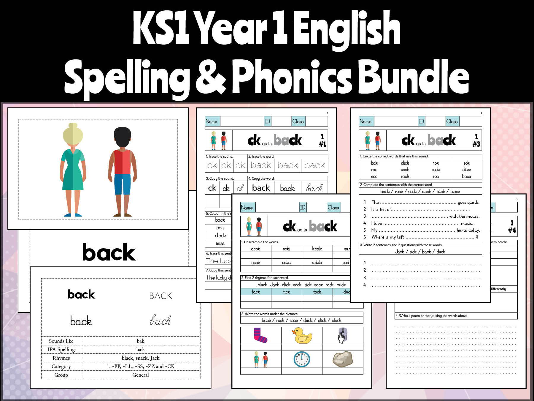 Key Stage 1 English Year 1 Phonics And Spelling Bundle By