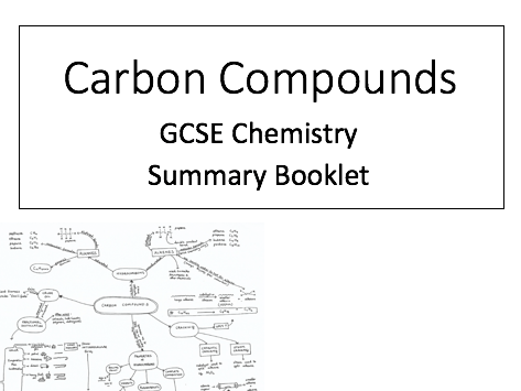 Carbon Compounds Knowledge Organiser/Summary Booklet: GCSE
