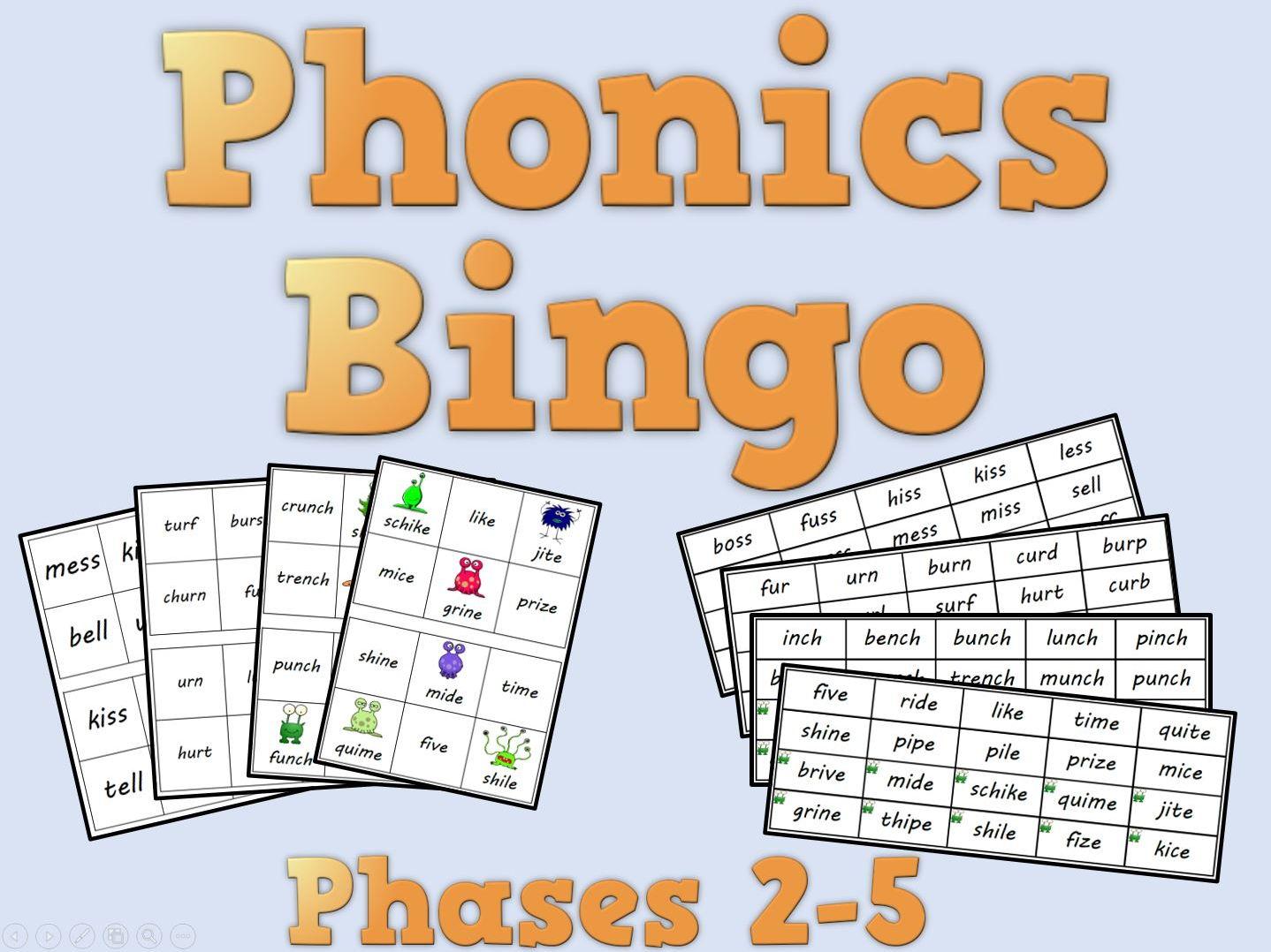 Phonics Bingo Phases 2 5