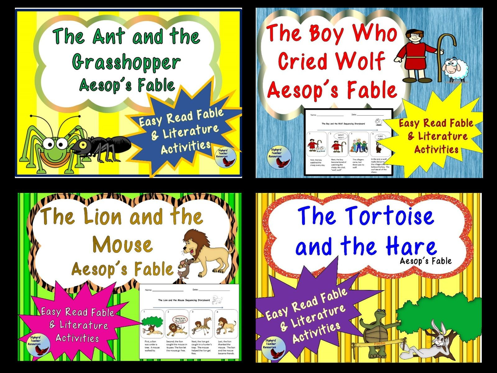 Aesop S Fables Bundle Reading Comprehension And Literature
