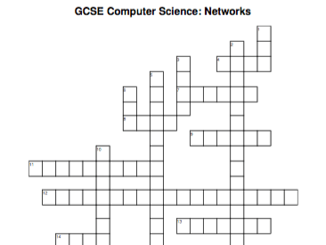 GCSE Computer Science crossword: Networks by csteacher2048
