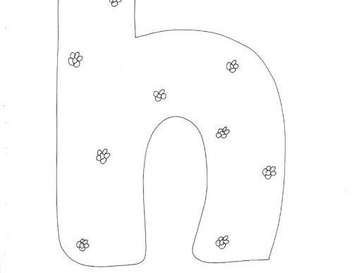 Letter 'n': Alphabet: Lower Case: Floral Pattern