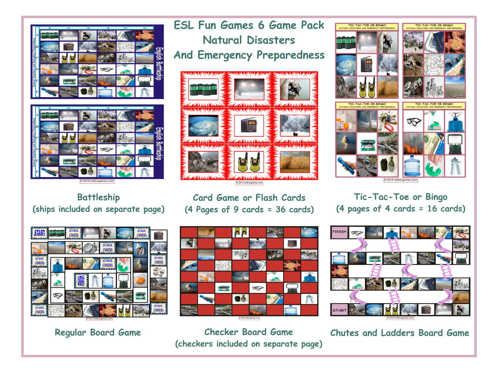 Natural Disasters And Emergency Preparedness 6 Board Game