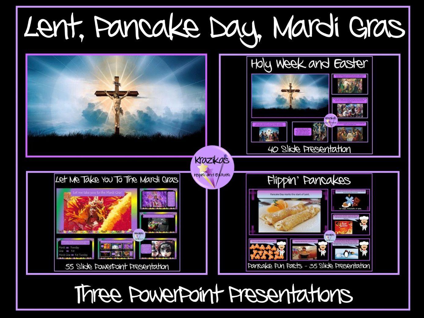 Lent Pancake Day Mardi Gras