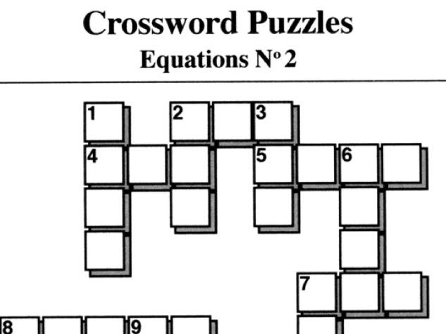 Equations No2 (Crossword Puzzles) by mistercorzi1