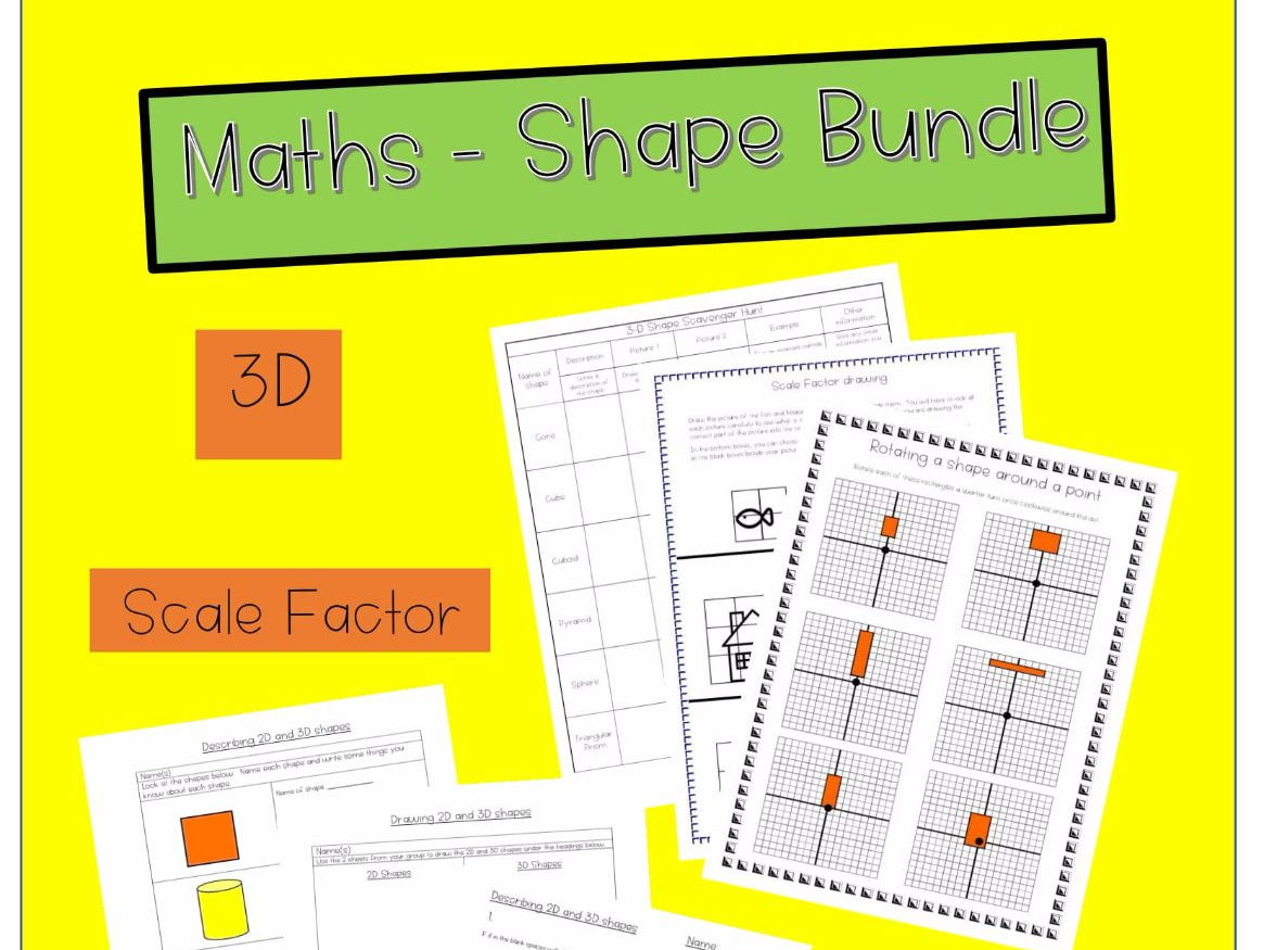 Primary 2d Properties Of Shapes Resources