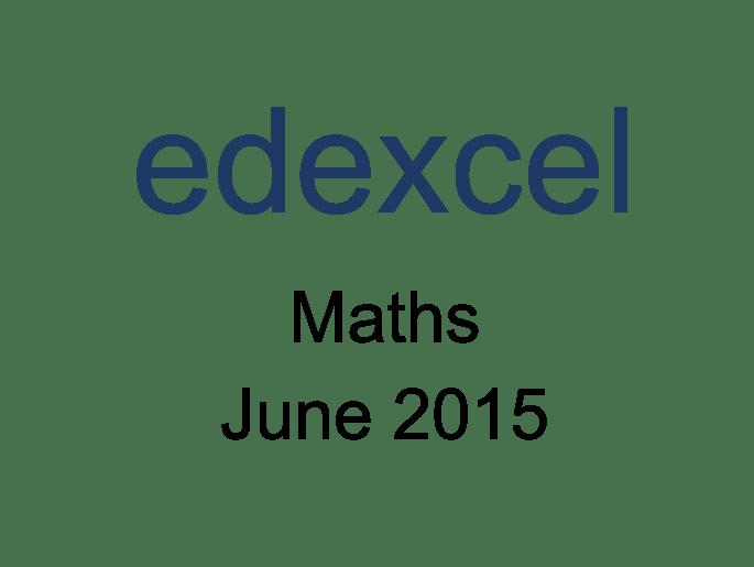 Edexcel IGCSE Maths June 2015 Model Answers by IGCSE