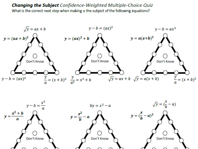 Changing the Subject Confidence-Weighted Multiple-Choice