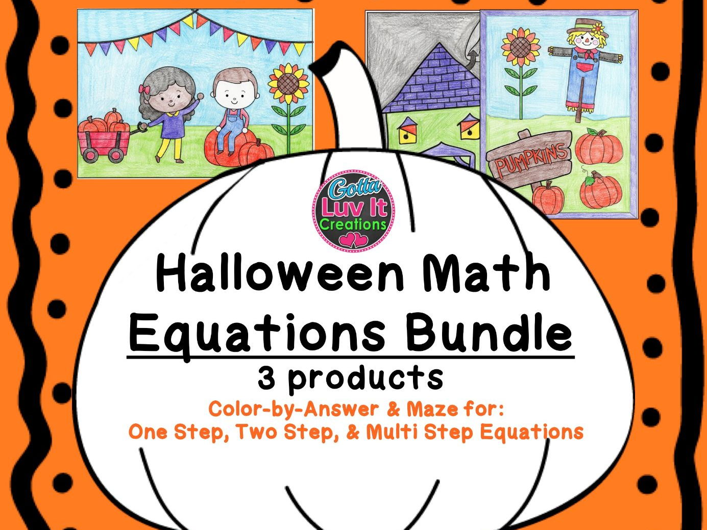 Solving Equations Halloween Fall Equations Maze Amp Color By