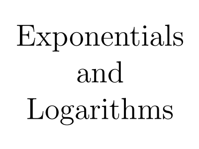 Secondary exponentials and logarithms resources