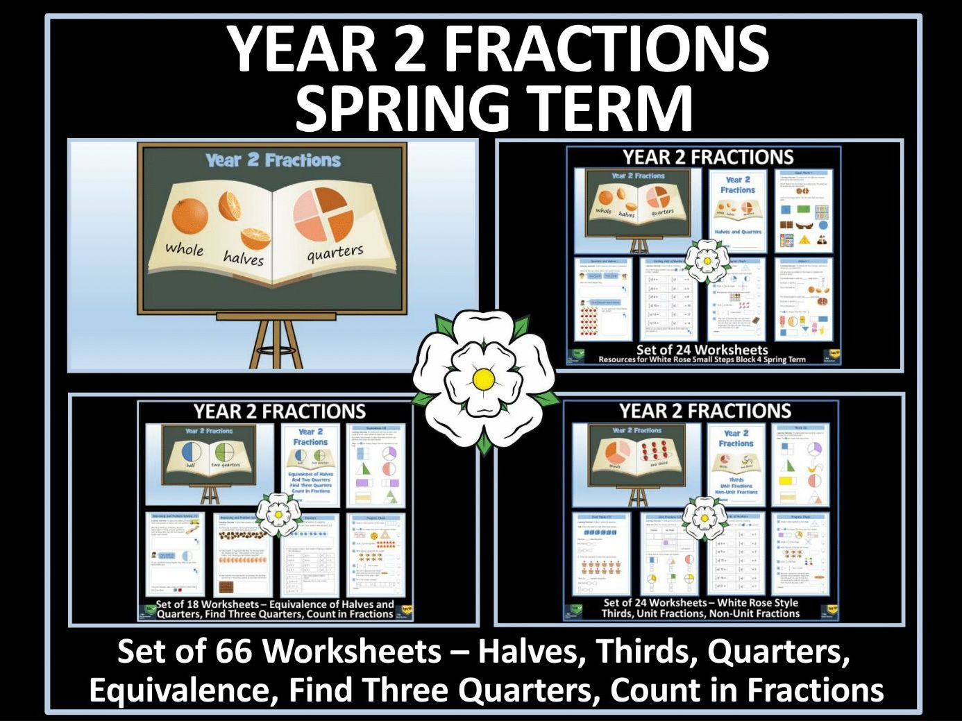 A Set Of Elementary Fractions Worksheet