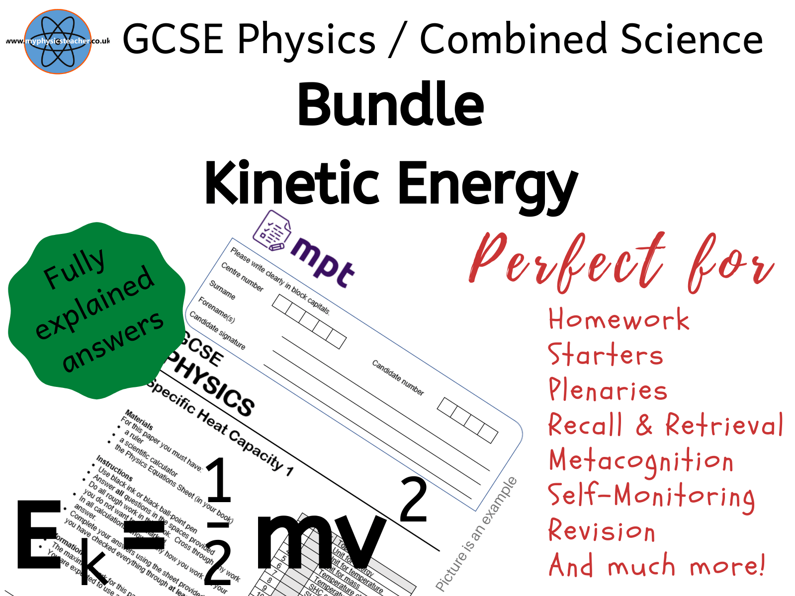 Kinetic Energy Gcse Bundle