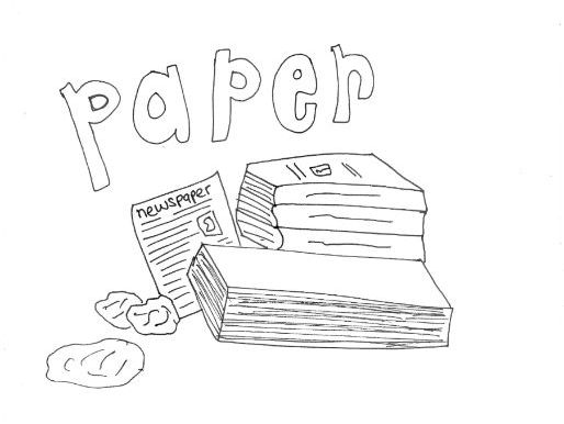 Paper :Recycling and Materials Colouring Page by sarah277