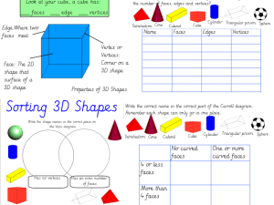 Properties of 3D Shapes and Venn and Carroll Diagrams by