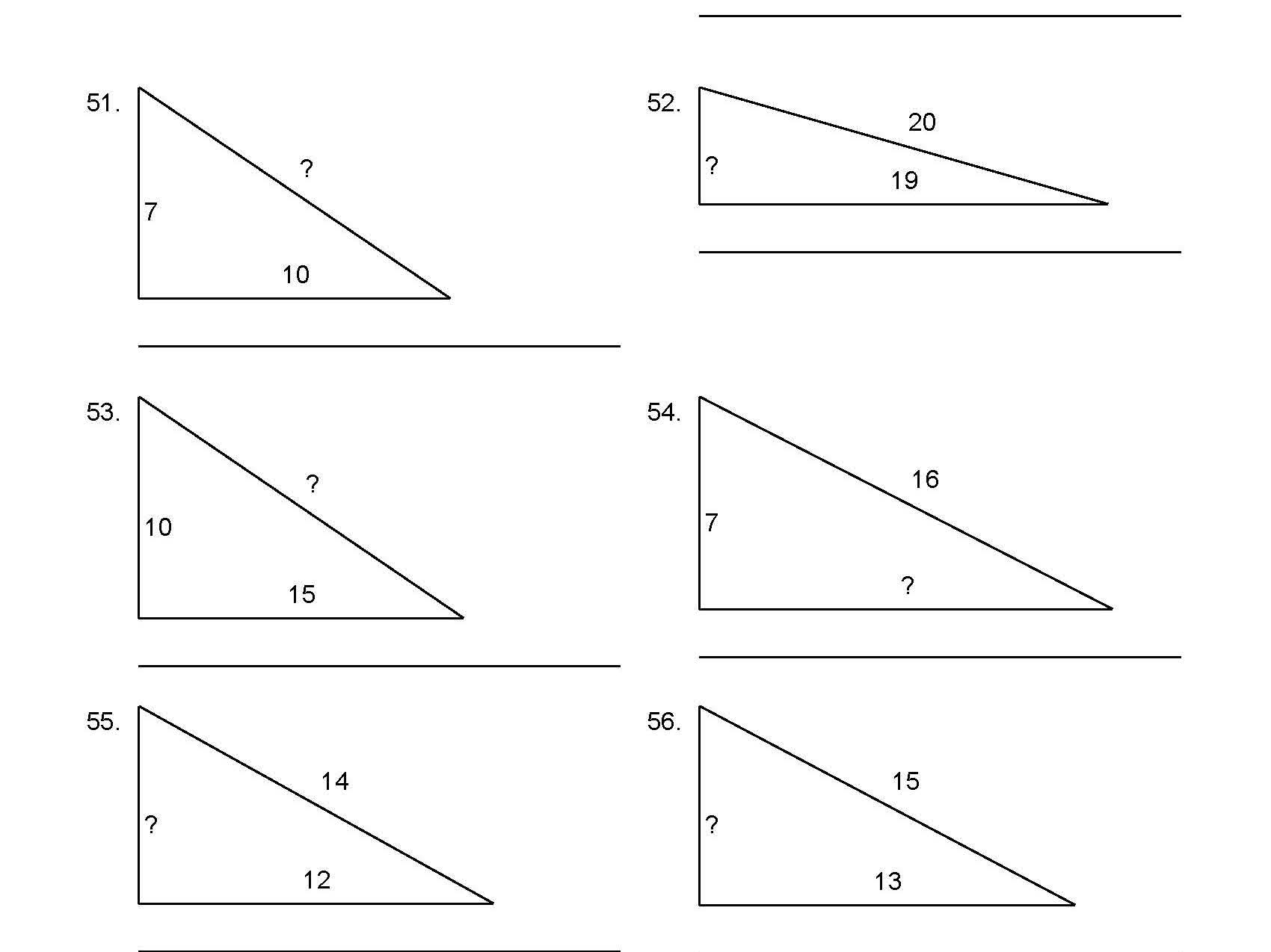 Bundle Pythagoras Equations Algebra Maths Worksheets
