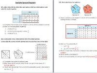 Sample space diagram Worksheet wih Solutions- Edexcel KS3 ...