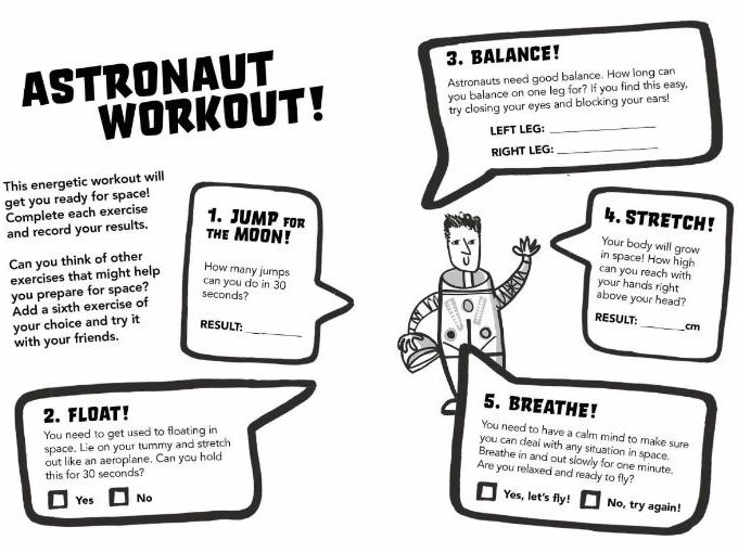 Principia Space Diary: Astronaut Workout for KS1-KS2, P2-7