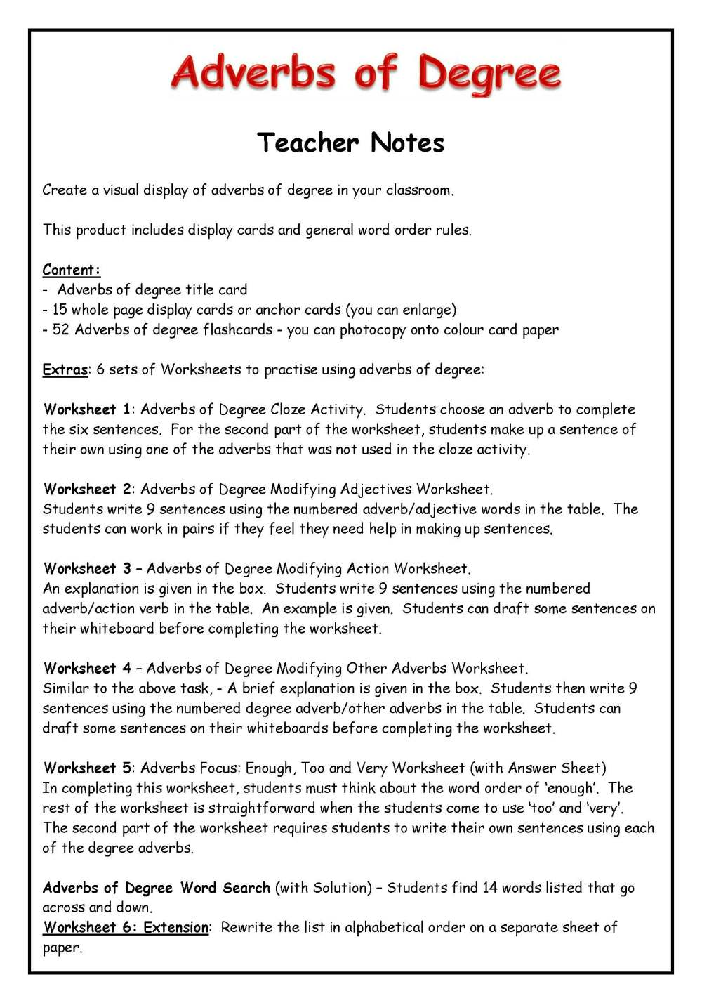 medium resolution of Voyages In English Adverbs Of Manner Worksheet   Printable Worksheets and  Activities for Teachers