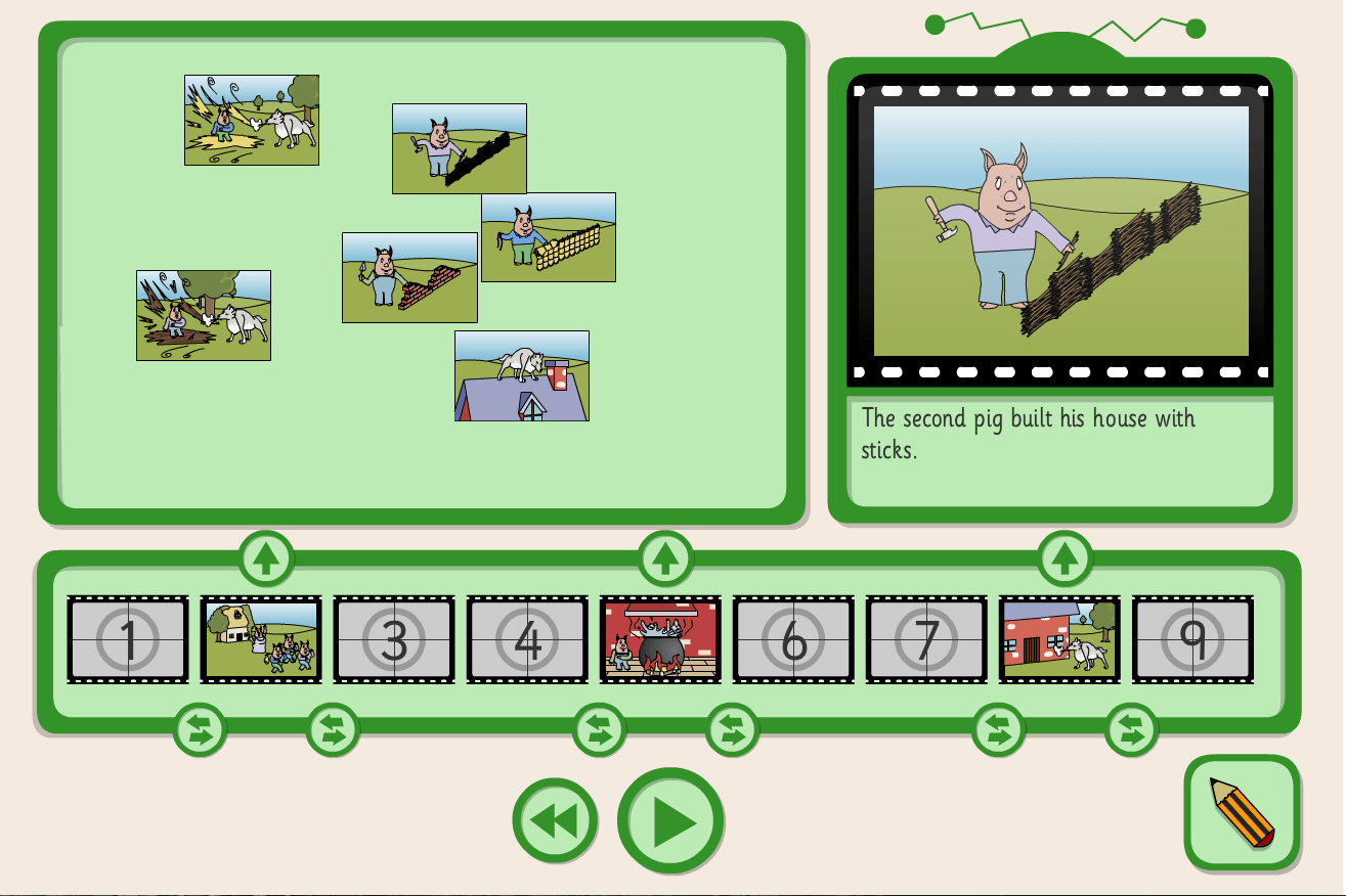 Three Little Pigs Sequence And Retell Interactive Activity