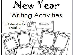 Christmas and New Year Writing Activities by jof78
