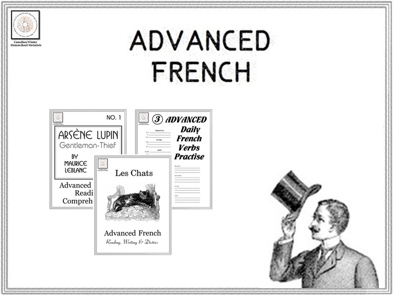 Advanced French Reading, Dictées & Verbs by canadianwinter