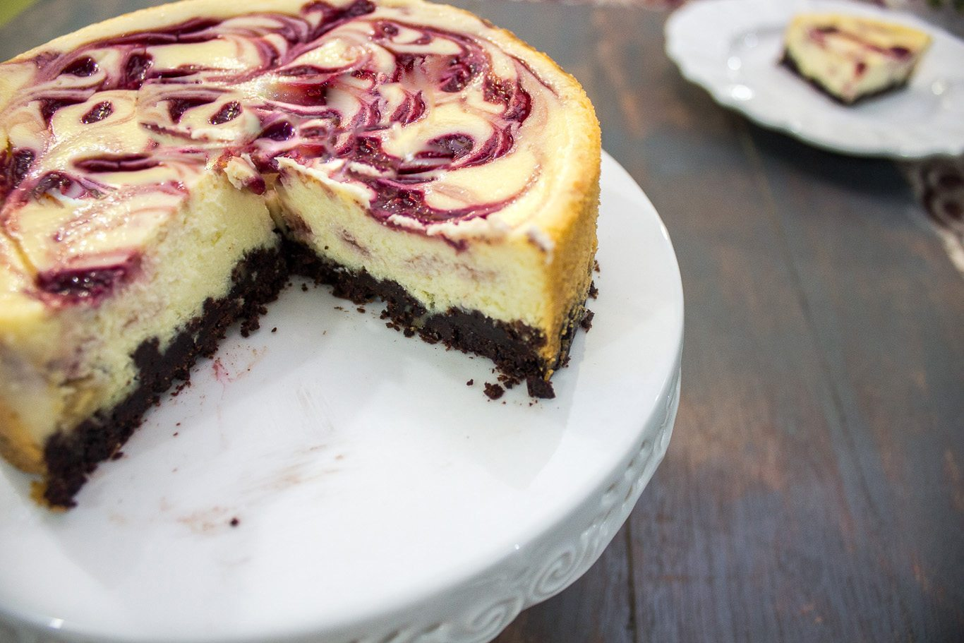 White Chocolate Raspberry Cheesecake