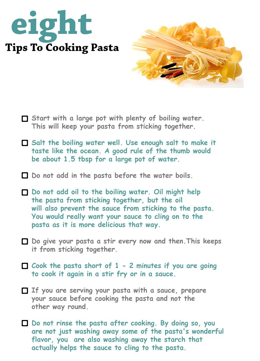 Tips to cooking pasta