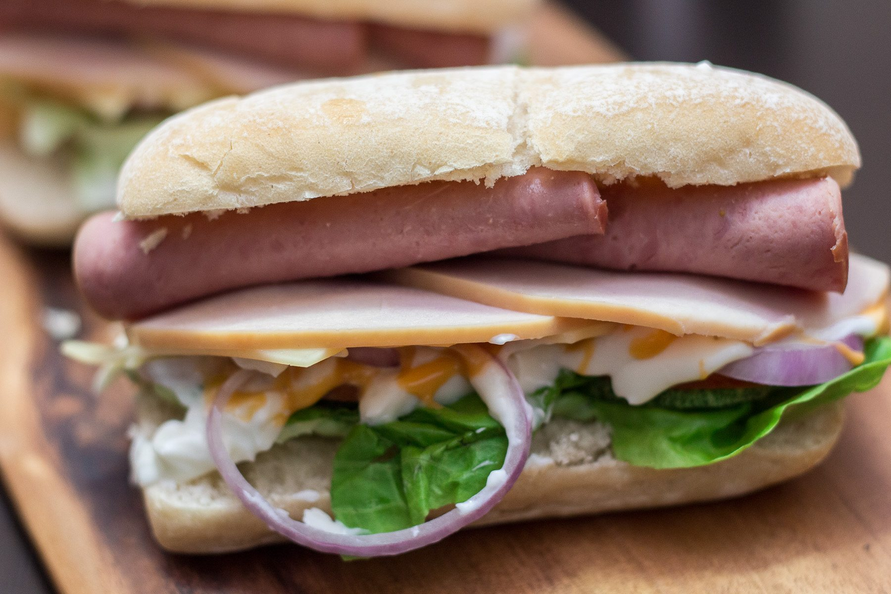 homemade subway sandwich