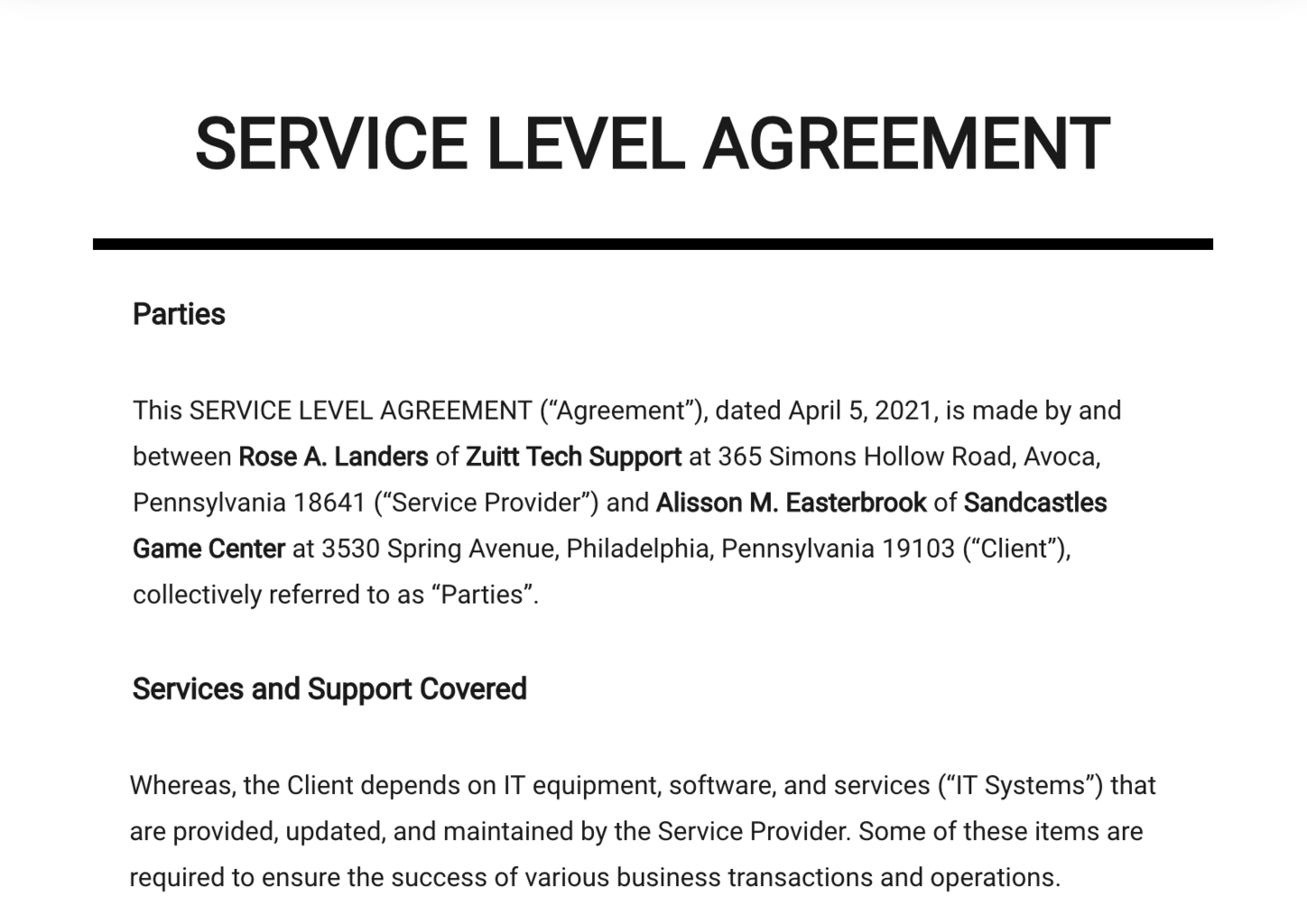 08/01/2020· service level agreement template example #1: A Comprehensive Guide To Customer Service Slas 3 Free Templates