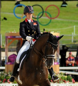 Great Britain's Charlotte Dujardin brought her country its second dressage gold medal aboard Valegro in the individual competition (photo copyright 2012 by Nancy Jaffer