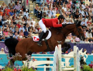 Gold medalist Steve Guerdat of Switzerland on Nino de Buissonnets (photo copyright 2012 by Nancy Jaffer)