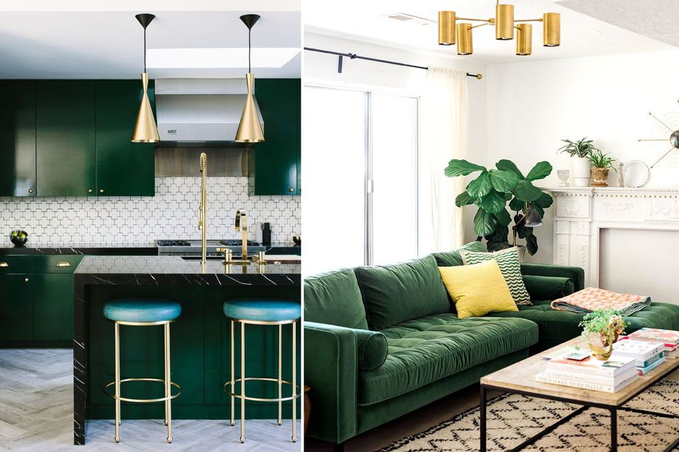 living room color with grey sofa ideas for wall art dark green: the interior trend you need right now & how to ...