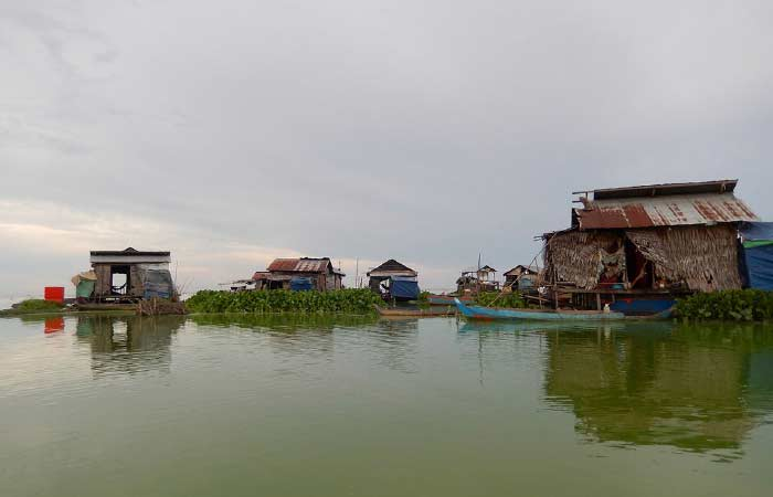 Environmentally-friendly toilets. Floating villages are using environmentally-friendly toilets that use native floating plants to break down human waste.