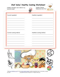 Healthy Substitutes for My Recipe Makeover WorkSheet