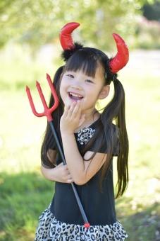 小悪魔 悪魔 仮装 衣装 ハロウィン 10月 子供 子ども こども 女の子 角 mdfk023