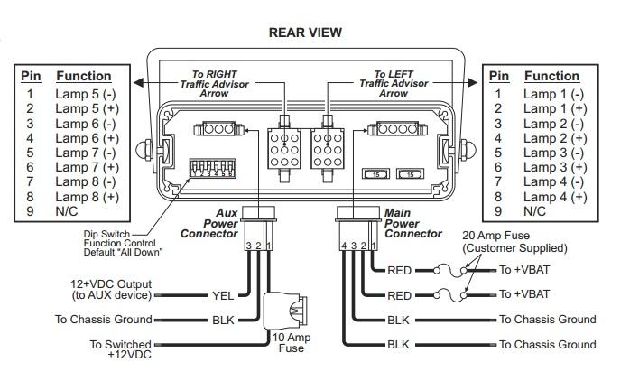 Whelen Power Harness Plug Cable 9 Pin X 2, 3 Pin, 4 Pin
