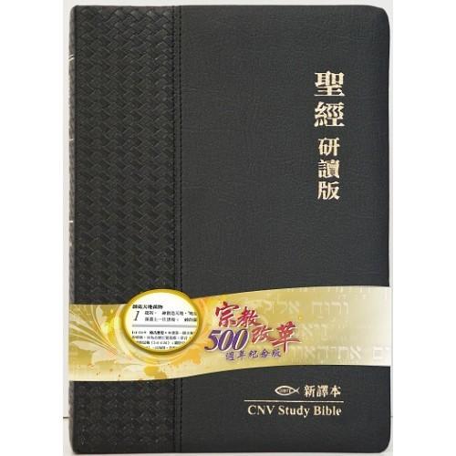 新譯本研讀版聖經-皮面金邊繁體 082018