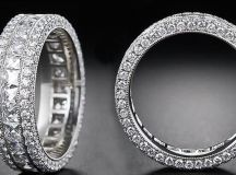 Magnificent 18k White Gold Eternity Ring