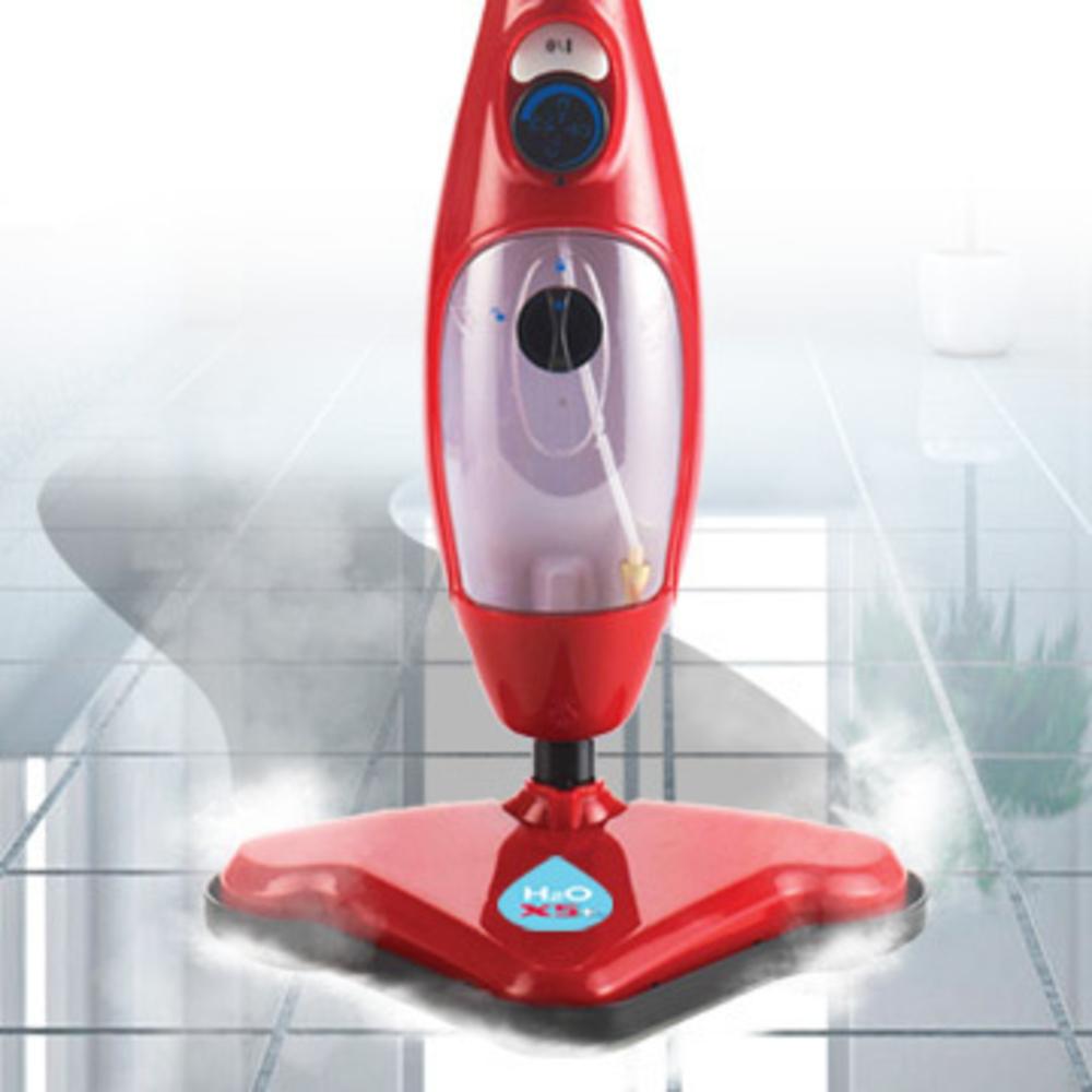H2o Plus Scopa A Vapore 3 Panni In Microfibra Per Lavapavimenti
