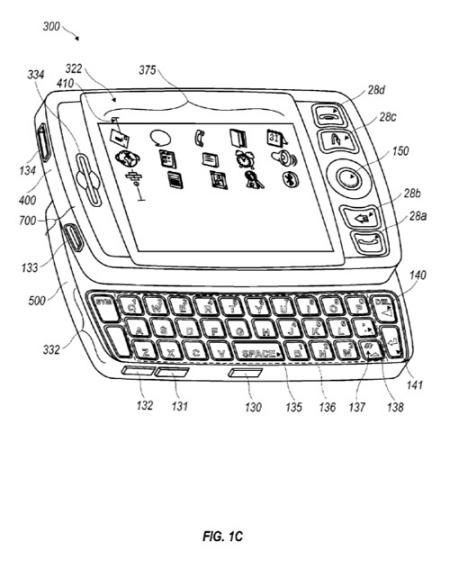 Un Blackberry avec clavier coulissant en préparation